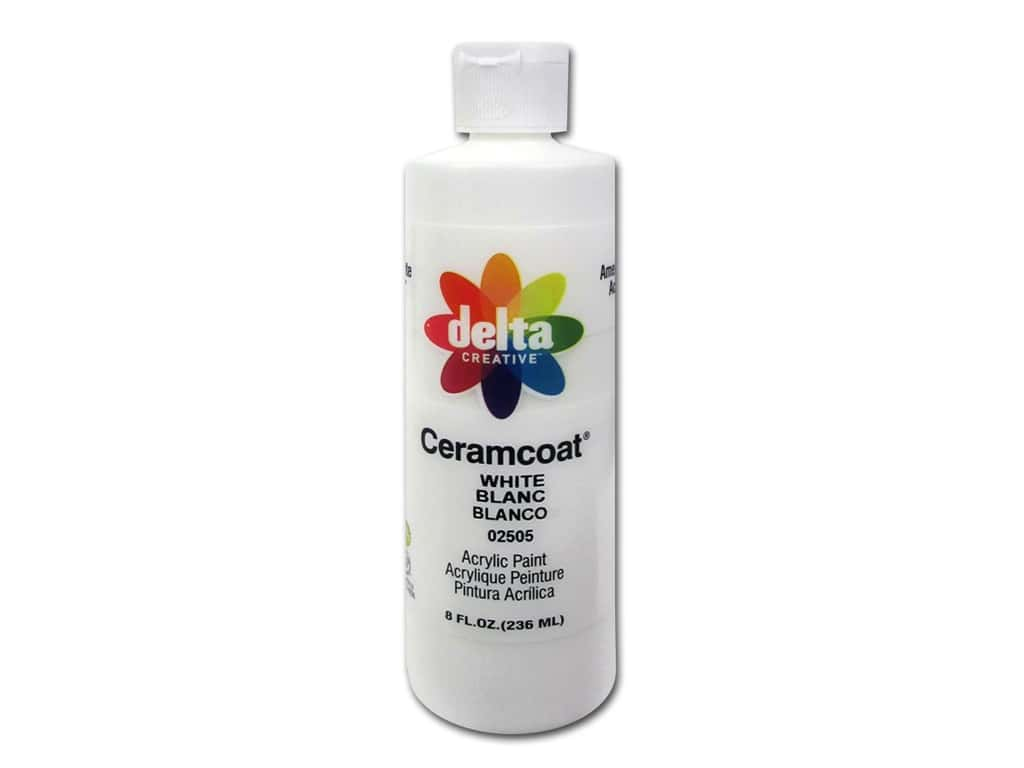 Delta Ceramcoat Acrylic Paint 8 oz. #2505 White