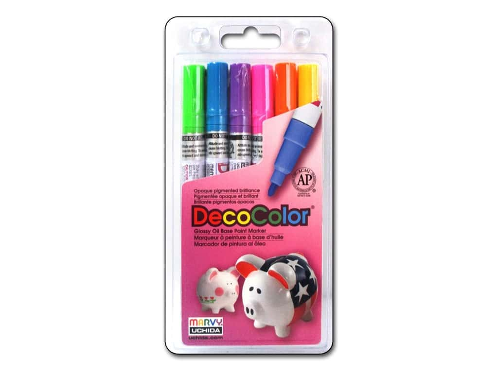 Uchida DecoColor Fine Marker Set 6 pc. Brights