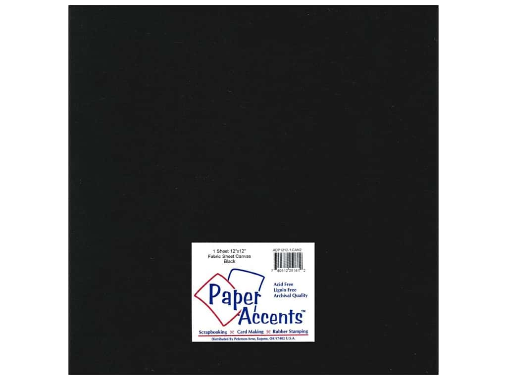 Fabric Sheet 12 x 12 in. by Paper Accents Canvas Black