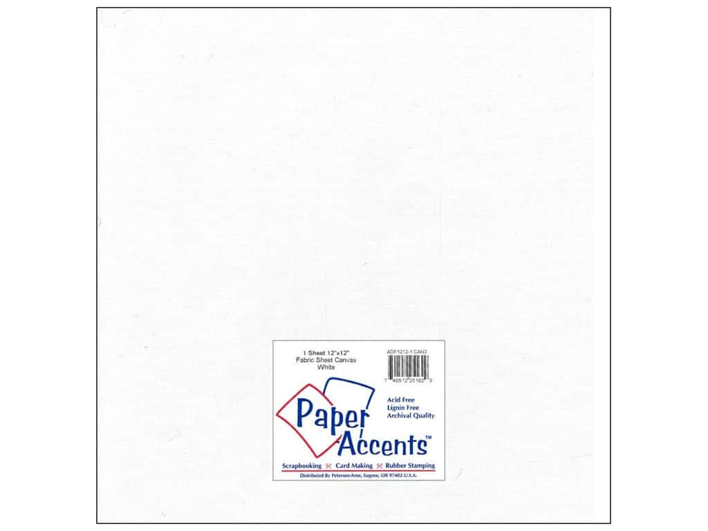 Fabric Sheet 12 x 12 in. by Paper Accents Canvas White