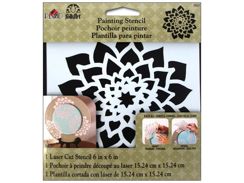 Plaid FolkArt Painting Stencils 6 x 6 in. Dahlia
