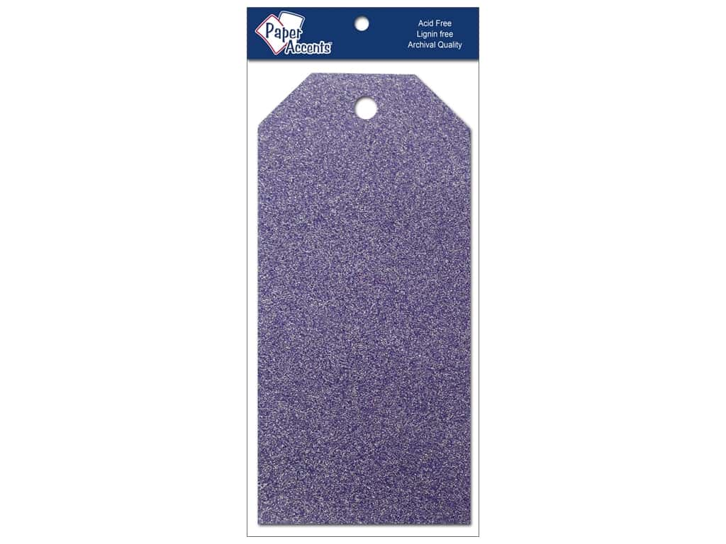 Craft Tags by Paper Accents  2 1/2 x 5 1/4 in. 10 pc. Glitz Violet