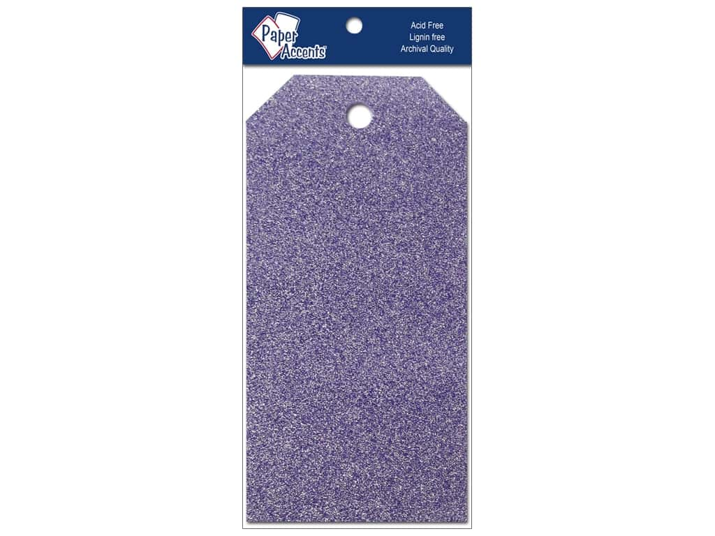 Craft Tags by Paper Accents 2 1/8 x 4 1/4 in. 10 pc. Glitz Violet