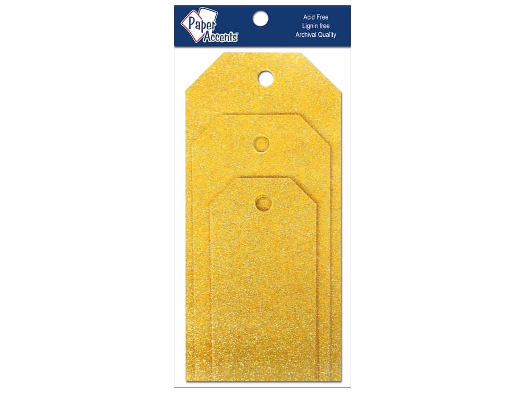 Craft Tags by Paper Accents Assorted 10 pc. Glitz Daffodil