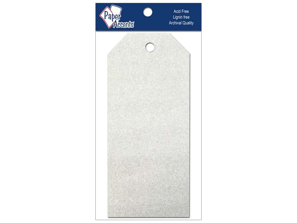 Craft Tags by Paper Accents 2 1/2 x 5 1/4 in. 10 pc. Glitz Fairy Dust