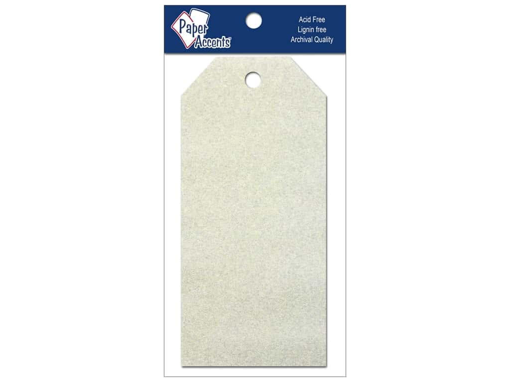 Craft Tags by Paper Accents 2 1/2 x 5 1/4 in. 10 pc. Glitz Champagne