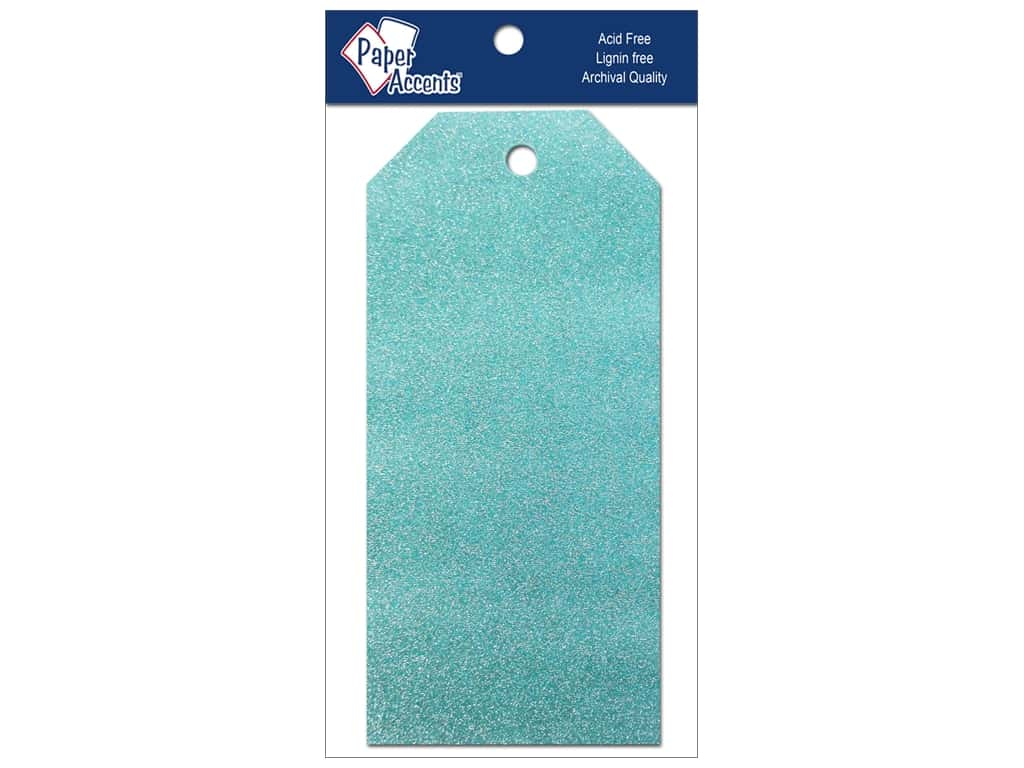 Craft Tags by Paper Accents 2 1/2 x 5 1/4 in. 10 pc. Glitz Blue Sky