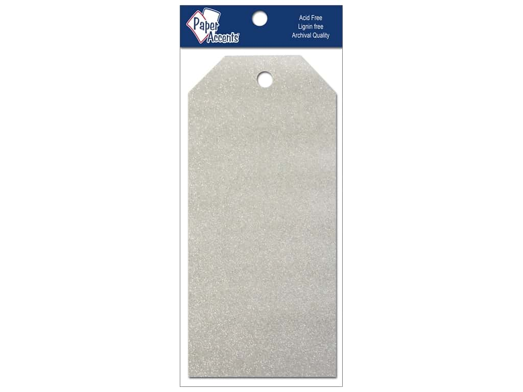 Craft Tags by Paper Accents 2 1/2 x 5 1/4 in. 10 pc. Glitz Platinum