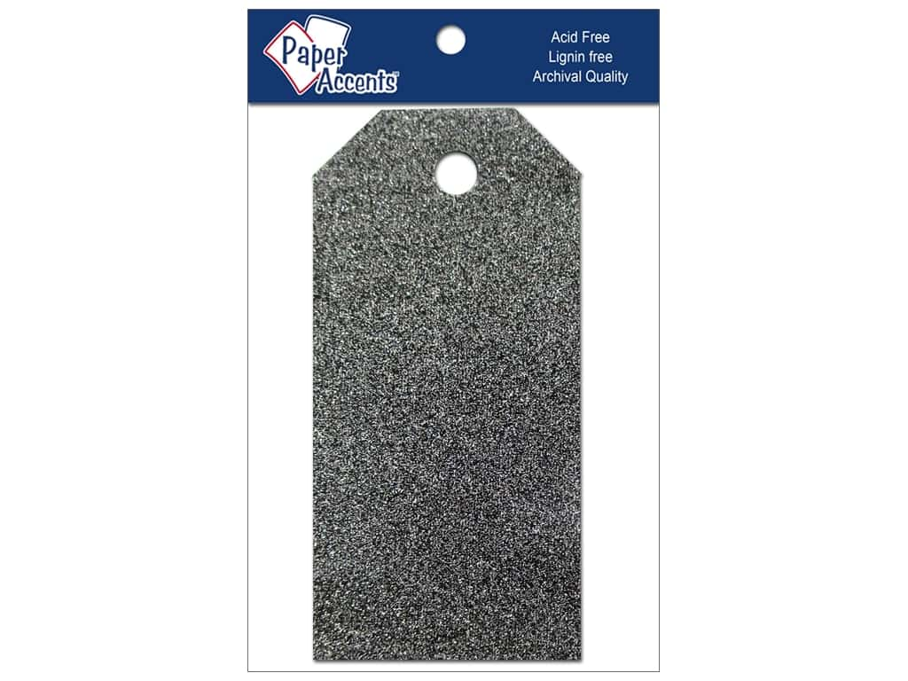 Craft Tags by Paper Accents 1 5/8 x 3 1/4 in. 10 pc. Glitz Midnight