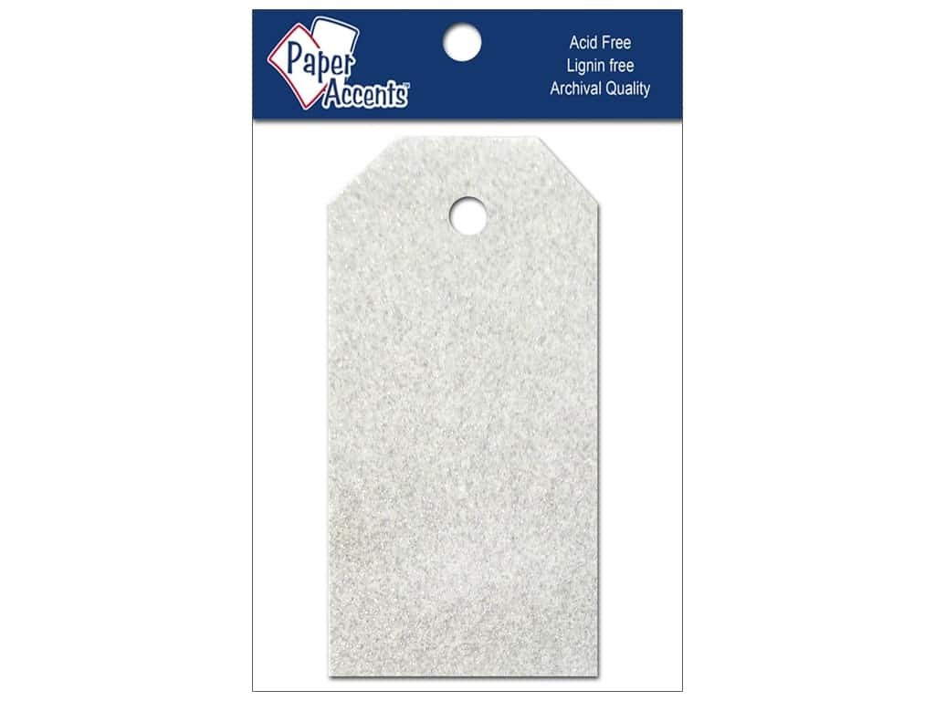 Craft Tags by Paper Accents 1 1/4 x 2 1/2 in. 10 pc. Glitz Fairy Dust