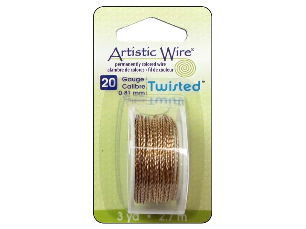 Artistic Wire 20 ga. Twisted Wire 3 yd. Tarnish Resistant Brass