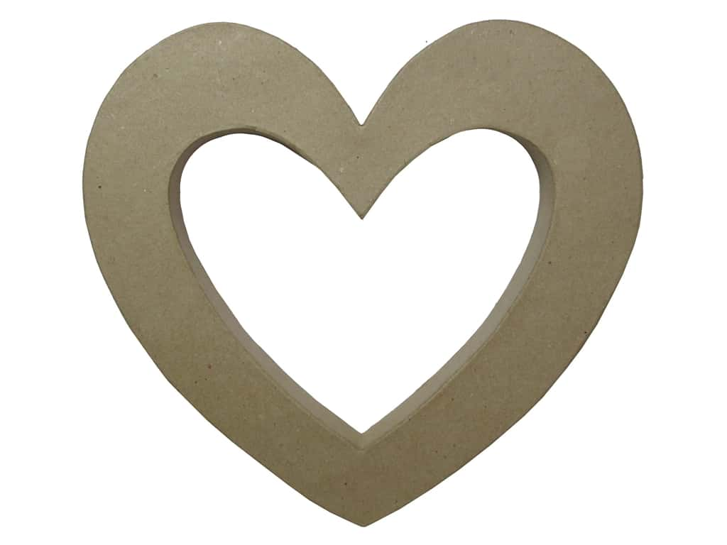 PA Paper Mache 3D Open Heart 10 7/8 in.
