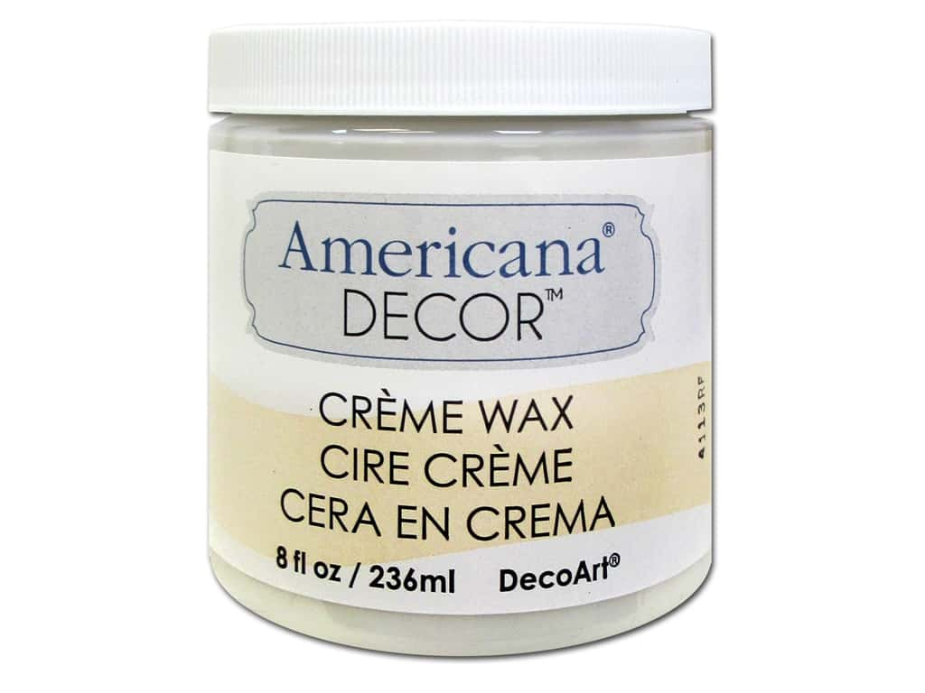 DecoArt Americana Decor Creme Wax 8 oz. Clear