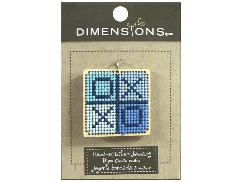 Dimensions Jewelry Hand Stitched Large Square XO Natural