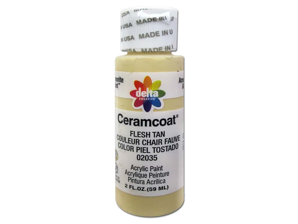 Delta Ceramcoat Acrylic Paint 2 oz. #2035 Flesh Tan