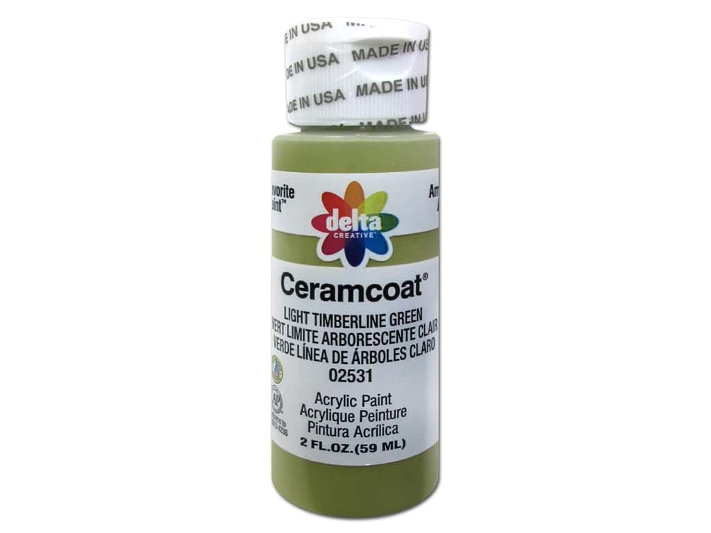 Ceramcoat Acrylic Paint by Delta 2 oz. #2531 Light Timberline Green