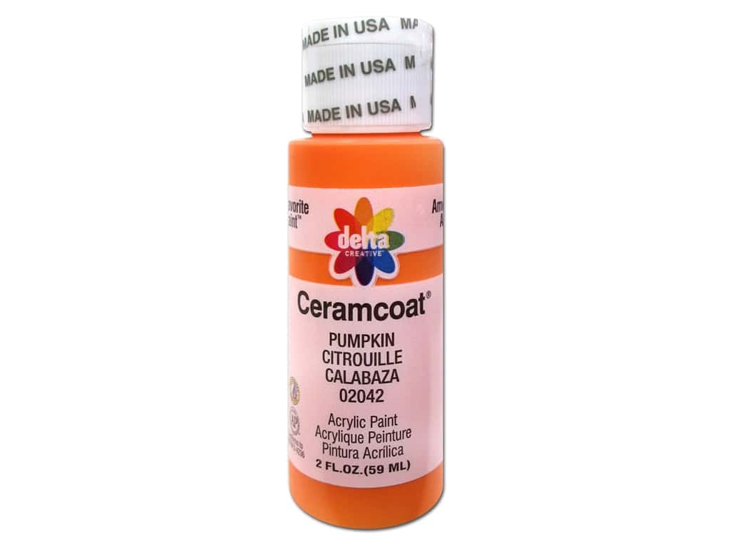 Delta Ceramcoat Acrylic Paint 2 oz. #2042 Pumpkin