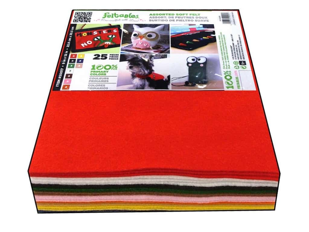 CPE Soft Felt 9 x 12 in. 25 pc. Assorted Basic