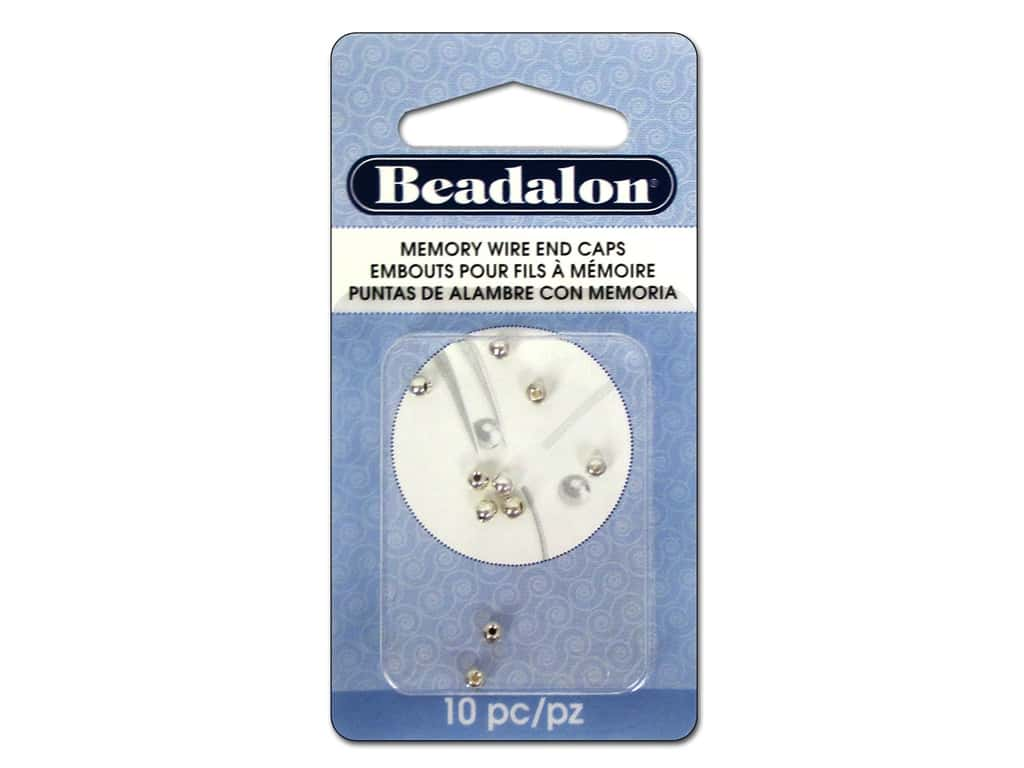 Beadalon Memory Wire End Caps 3 mm (.12 in.) Round 10 pc. Silver Plated