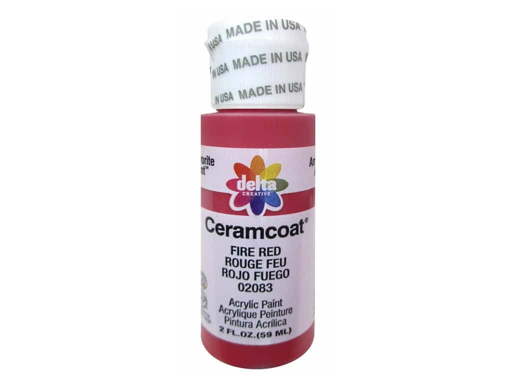 Delta Ceramcoat Acrylic Paint 2 oz. #2083 Fire Red