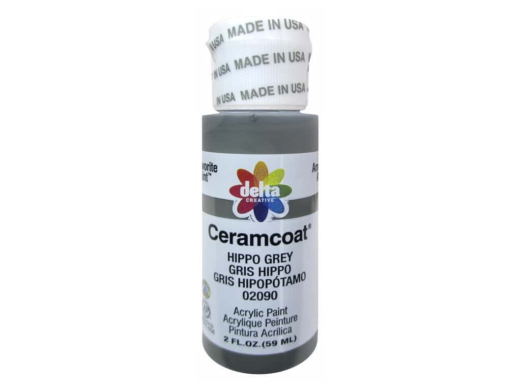 Delta Ceramcoat Acrylic Paint - #2090 Hippo Grey 2 oz.