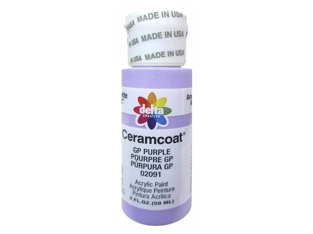 Delta Ceramcoat Acrylic Paint 2 oz. #2091 GP Purple