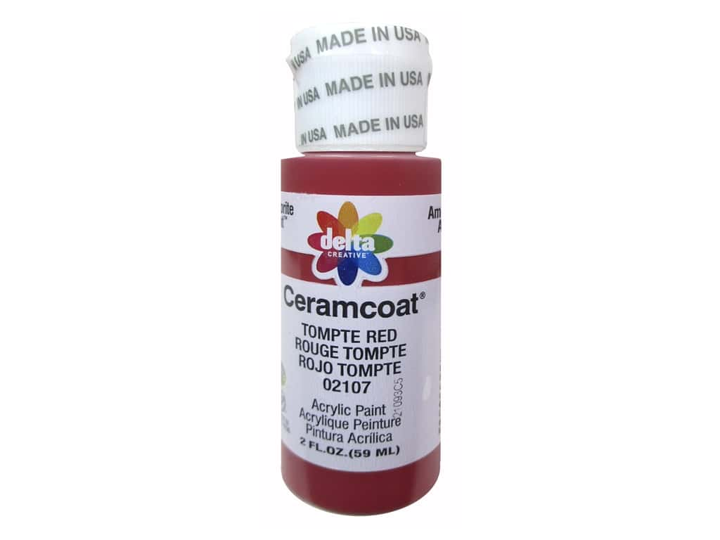 Ceramcoat Acrylic Paint by Delta 2 oz. #2107 Tompte Red