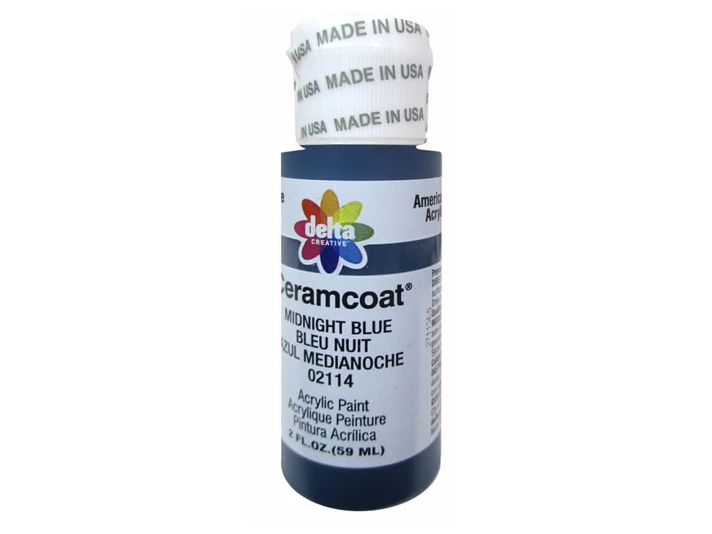 Delta Ceramcoat Acrylic Paint 2 oz. #2114 Midnight Blue