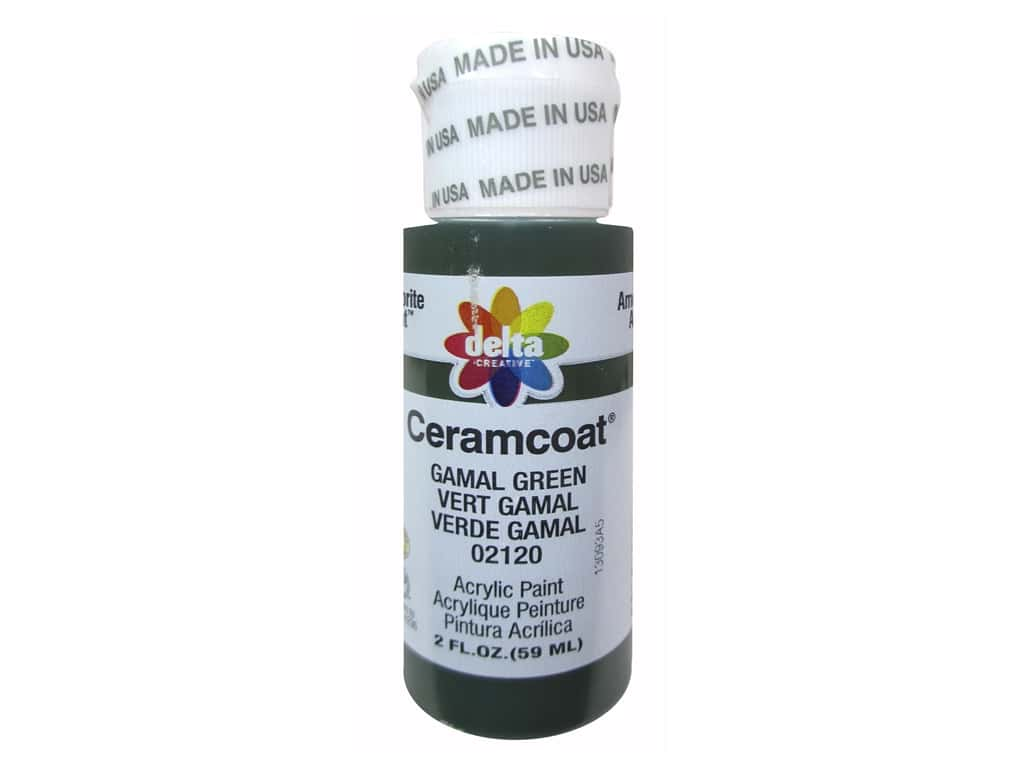 Ceramcoat Acrylic Paint by Delta 2 oz. #2120 Gamal Green