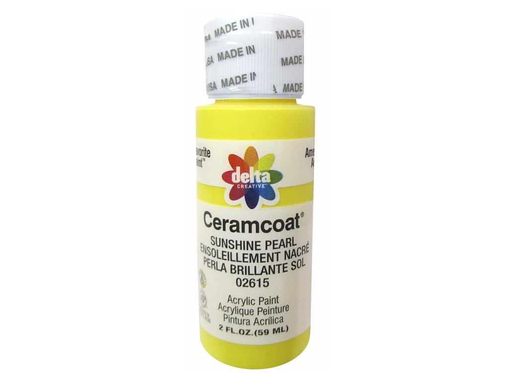 Ceramcoat Acrylic Paint by Delta 2 oz. #2615 Sunshine Pearl