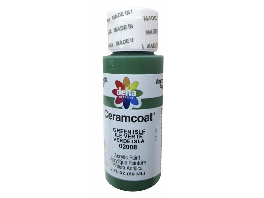Delta Ceramcoat Acrylic Paint 2 oz. #2008 Green Isle