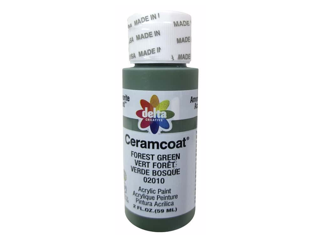 Ceramcoat Acrylic Paint by Delta 2 oz. #2010 Forest Green