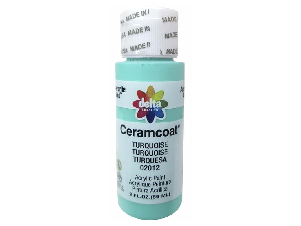 Ceramcoat Acrylic Paint by Delta 2 oz. #2012 Turquoise
