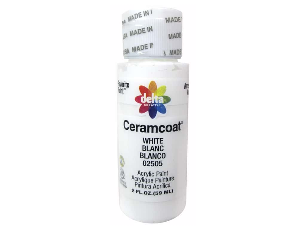 Delta Ceramcoat Acrylic Paint 2 oz. #2505 White