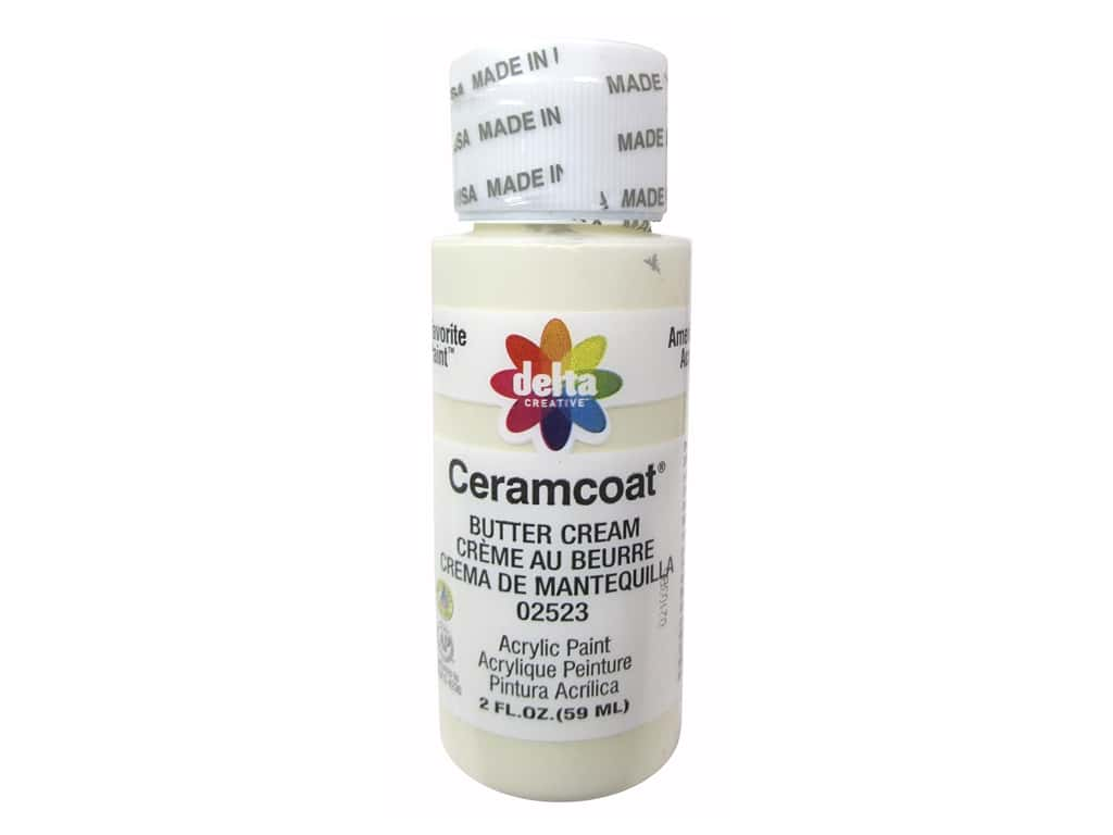 Delta Ceramcoat Acrylic Paint 2 oz. #2523 Butter Cream