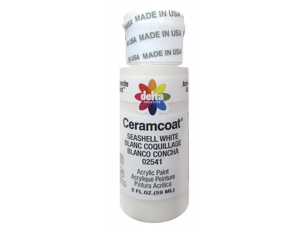 Delta Ceramcoat Acrylic Paint 2 oz. #2541 Seashell White