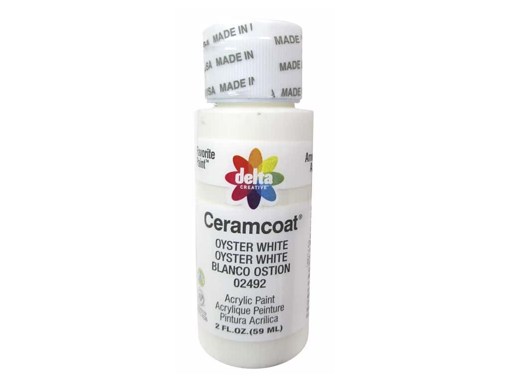 Ceramcoat Acrylic Paint by Delta 2 oz. #2492 Oyster White
