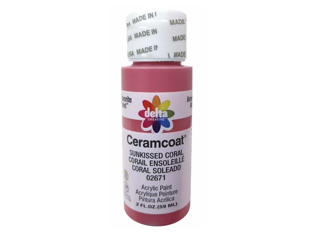 Delta Ceramcoat Acrylic Paint 2 oz. #2671 Sunkissed Coral