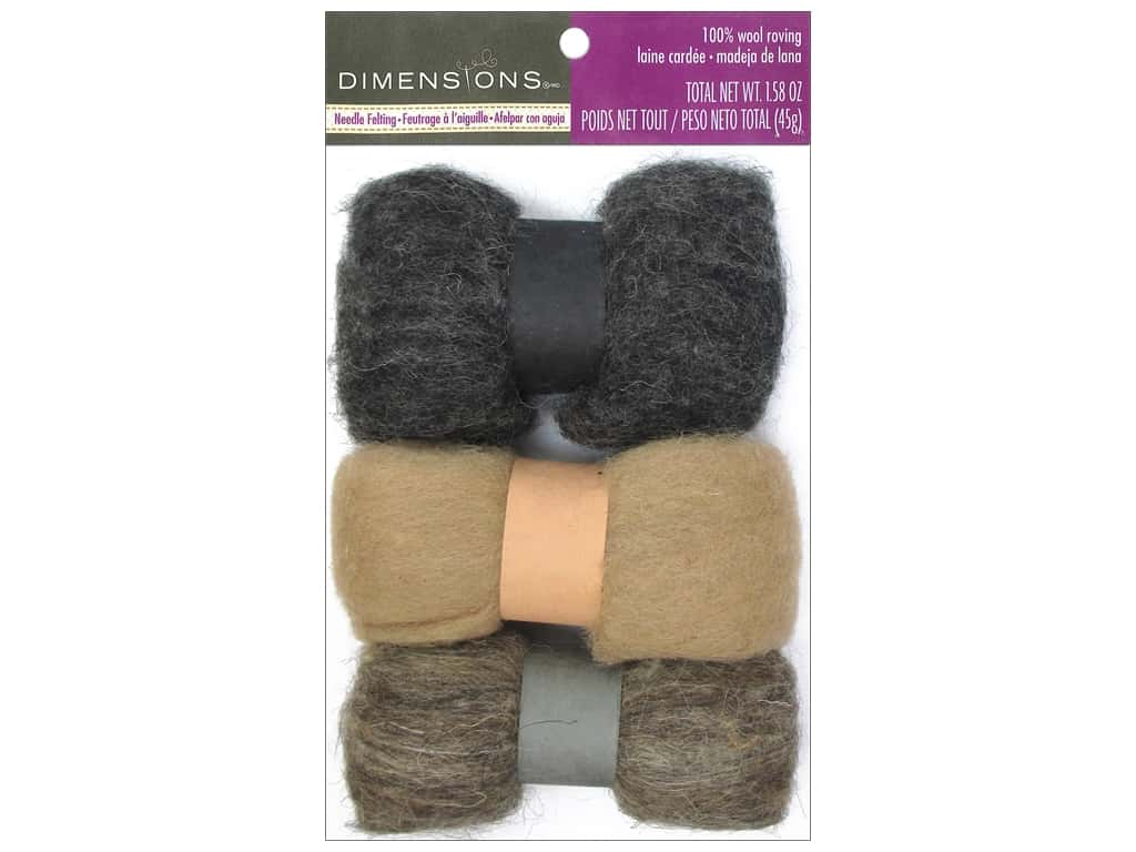 Dimensions 100% Wool Roving Trio Neutrals
