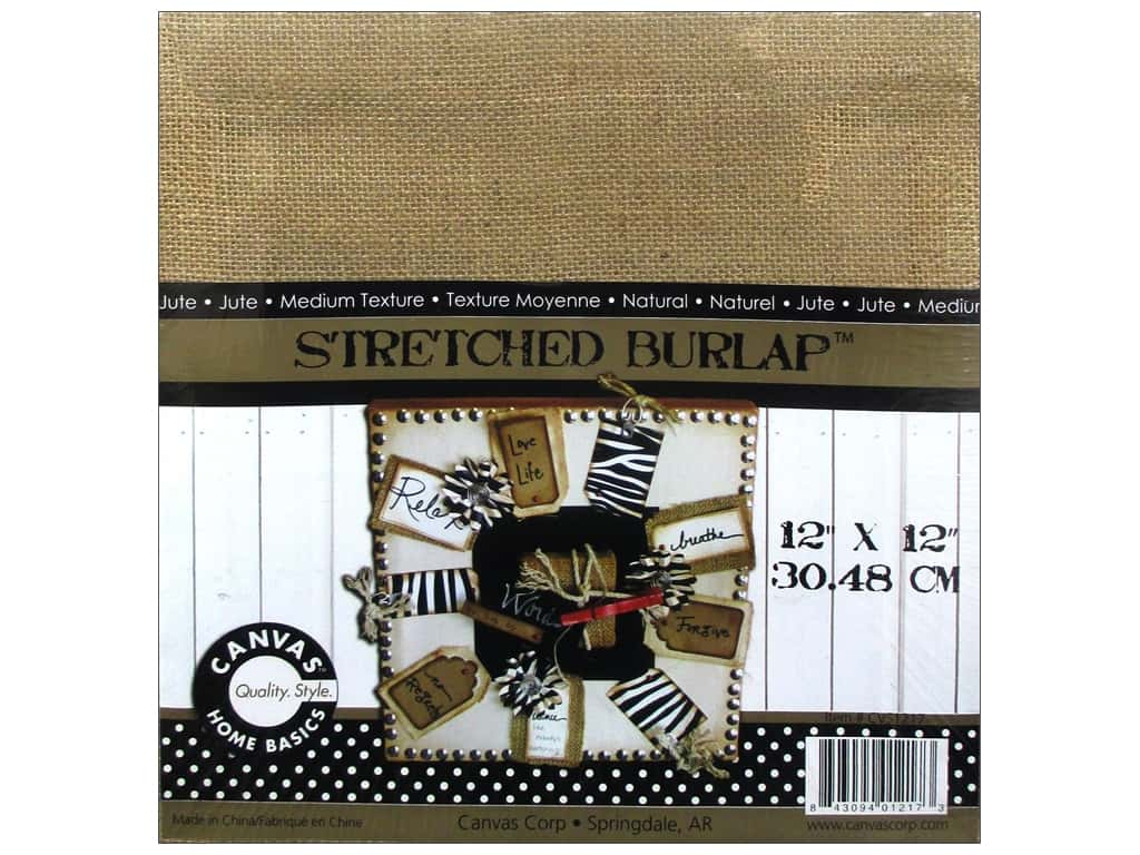 Canvas Corp Stretched Burlap 12 x 12 in. Blank