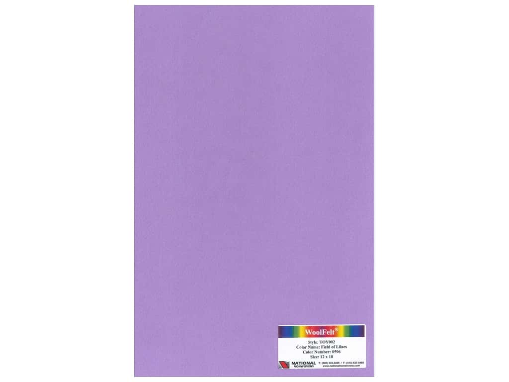 National Nonwovens 35% Wool Felt 12 x 18 in. Field of Lilacs (10 sheets)