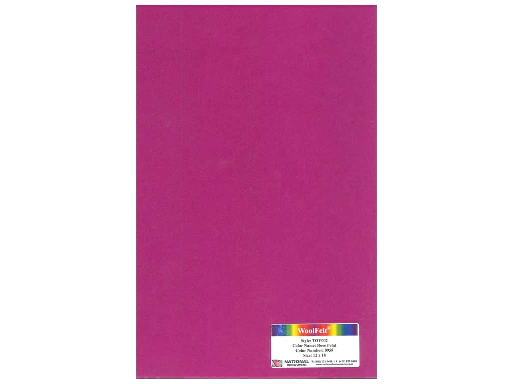 National Nonwovens 35% Wool Felt 12 x 18 in. Rose Petal (10 sheets)