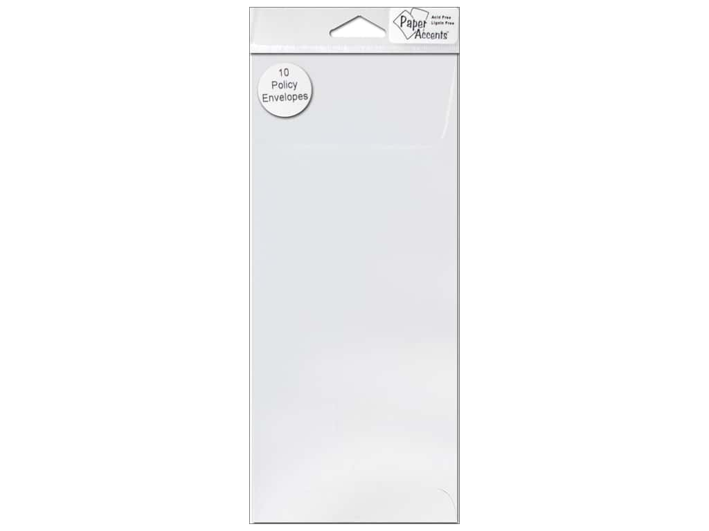 Paper Accents 9 1/2 x 4 1/8 in. Policy Envelopes 10 pc.White