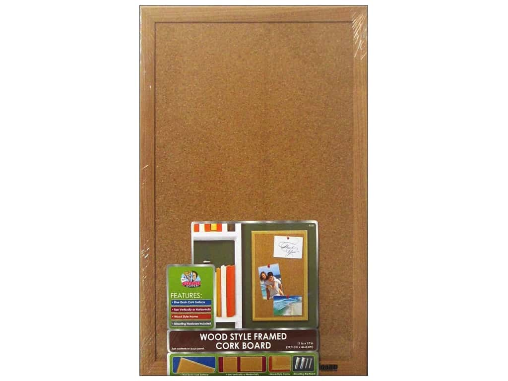 The Board Dudes Cork Bulletin Boards 11 x 17 in. Wood Frame