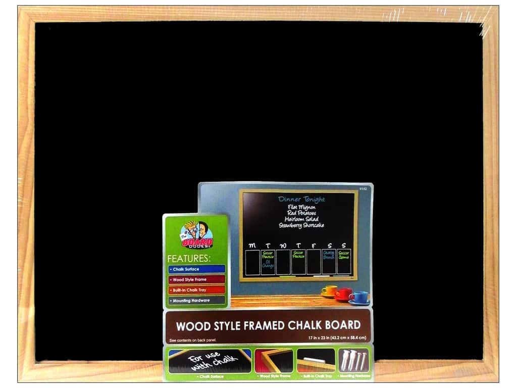 The Board Dudes Chalk Boards Wood Frame 17 X 23 In Createforless