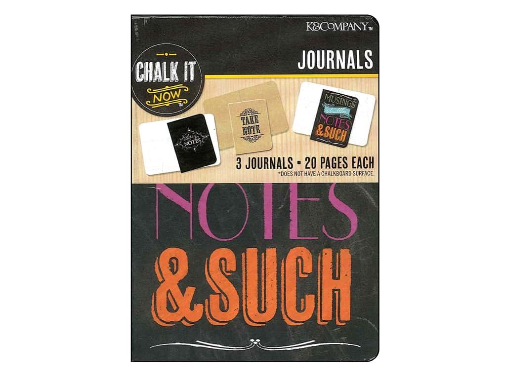 K&Company Chalk It Now Mini Journals