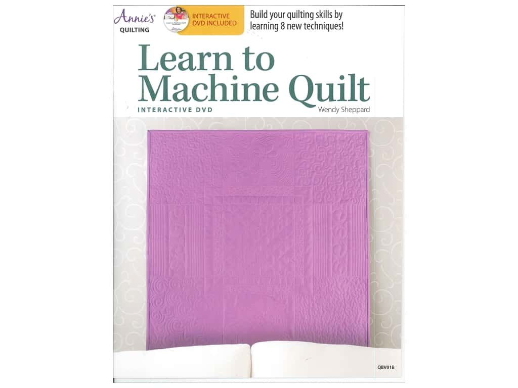 Learn To Machine Quilt Book with Interactive DVD