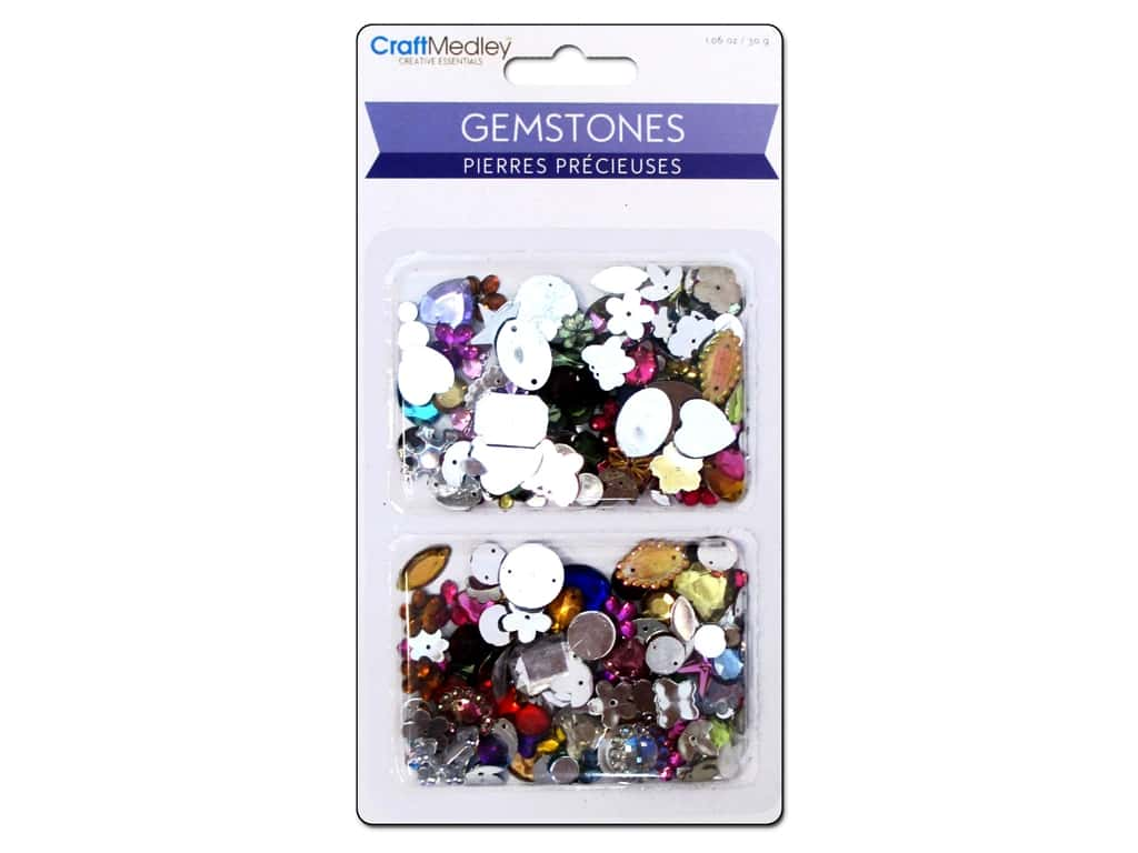 Multicraft Gemstones Assorted Shapes/Colors/Sizes