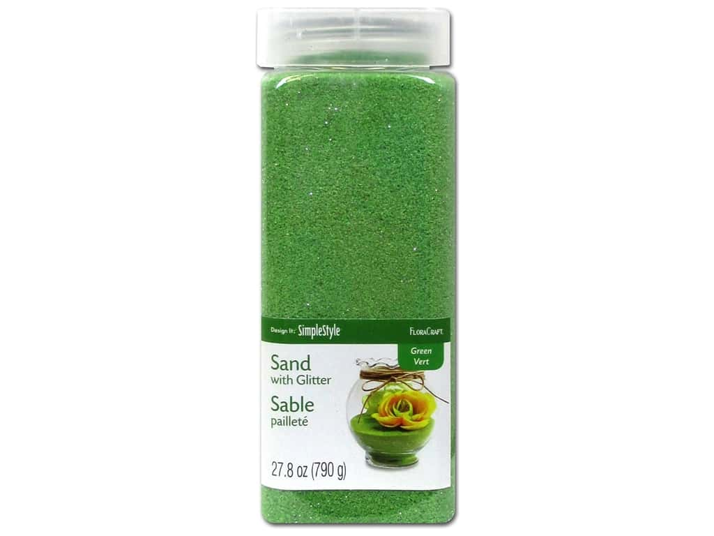 FloraCraft Sand with Glitter 27.8 oz. Green