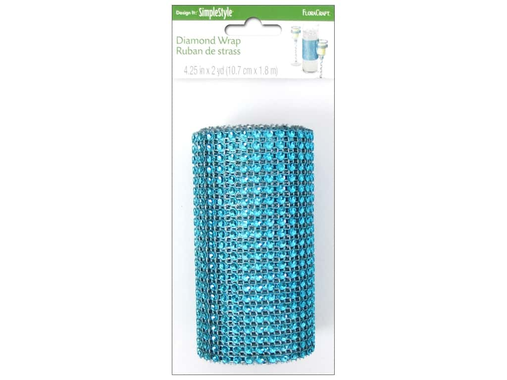 FloraCraft Diamond Wrap Mesh 4 1/4 in. x 2 yd.Turquoise